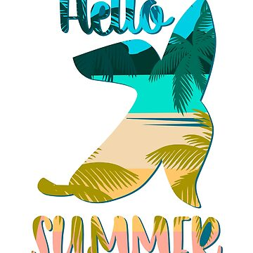 Hello Summer Great Fashion T-Shirt With A Banana   by andalit