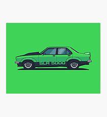 SLR 5000 Car - Side Green Photographic Print