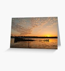 Sunset Over the River Hamble Greeting Card