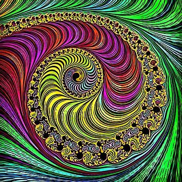 Spiral fractal Abstract art digitalart tshirt gift by Netsrikfa