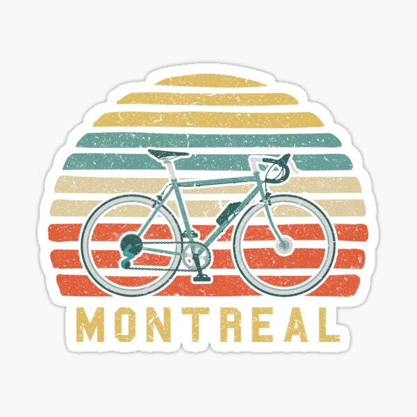 Vintage Retro Bike Montreal Cyclist Sticker