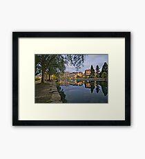 Rhone River View Framed Print