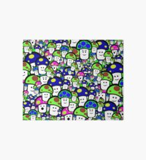 GRAPHIC funny mushrooms #mushrooms #fungi #cartoon #kawaii Art Board