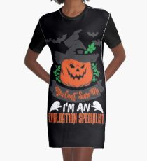 Halloween T-Shirts & Gifts: You Can't Scare Me I'm an Evaluation Specialist Graphic T-Shirt Dress