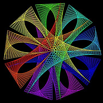 Spiral pattern rainbow colors digitalart tshirt gift by Netsrikfa