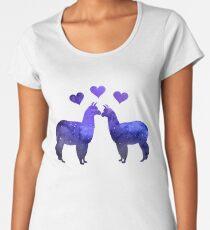 Llama Couple Women's Premium T-Shirt