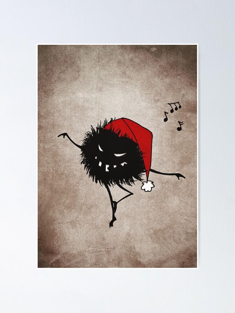 Alternate view of Dark Evil Christmas Bug Poster