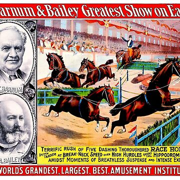 BARNUM and BAILEY : Vintage Circus Horse Jumping Advertising Print by posterbobs