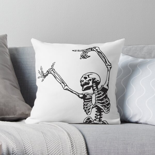 Dance With Death Throw Pillow