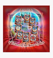 6 Virtues of the Base Chakra Photographic Print