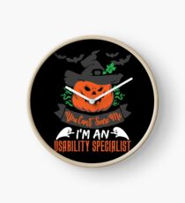 Halloween T-Shirts & Gifts: You Can't Scare Me I'm an Usability Specialist Clock