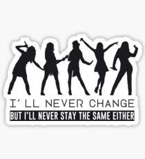 Taylor Swift - I'll never change (Black Version) Sticker