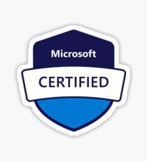 Microsoft Certified Badge - job role based certification badge Sticker