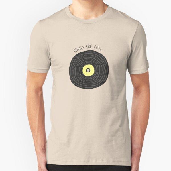 Vinyls are Cool (Grey) Slim Fit T-Shirt