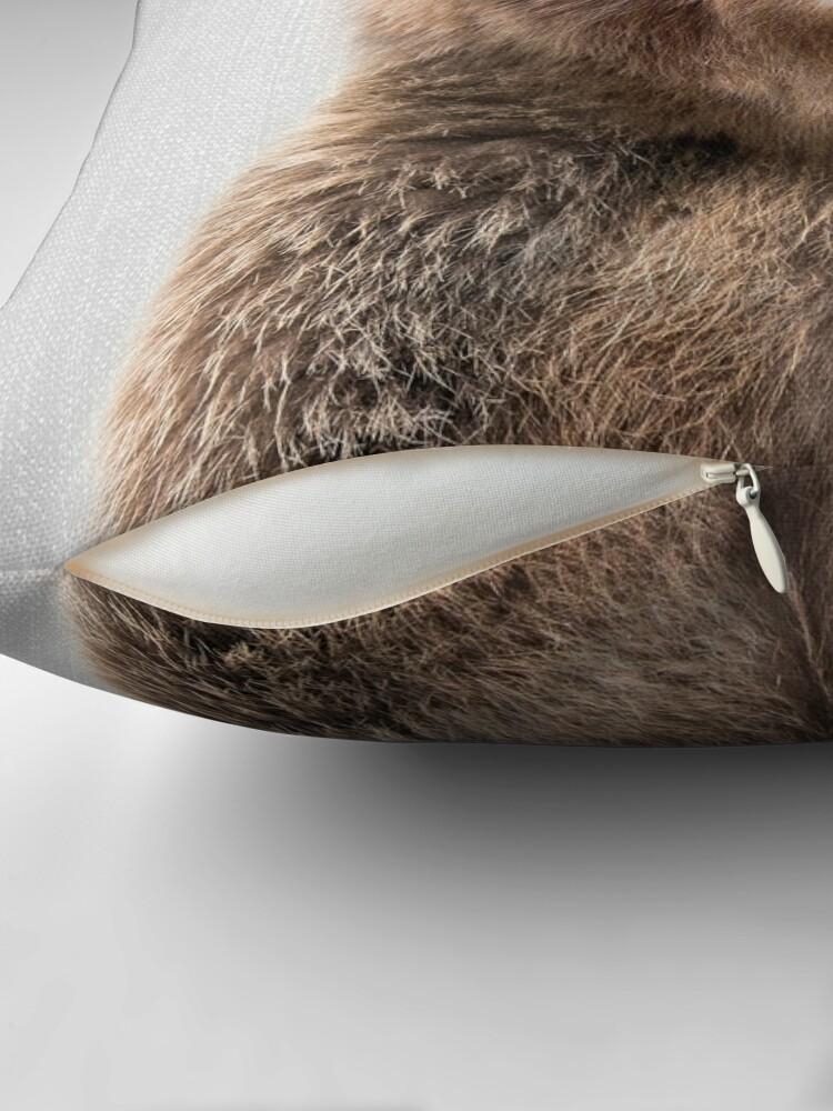 Alternative Ansicht von Grizzlybär - bunt Dekokissen