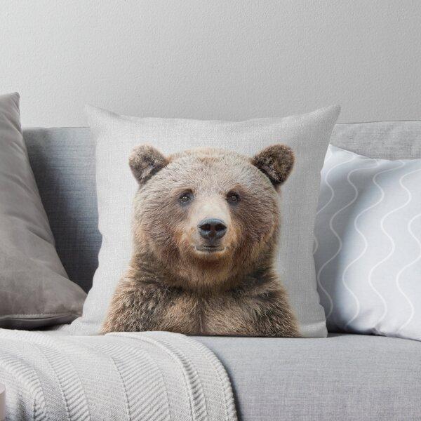 Grizzlybär - bunt Dekokissen