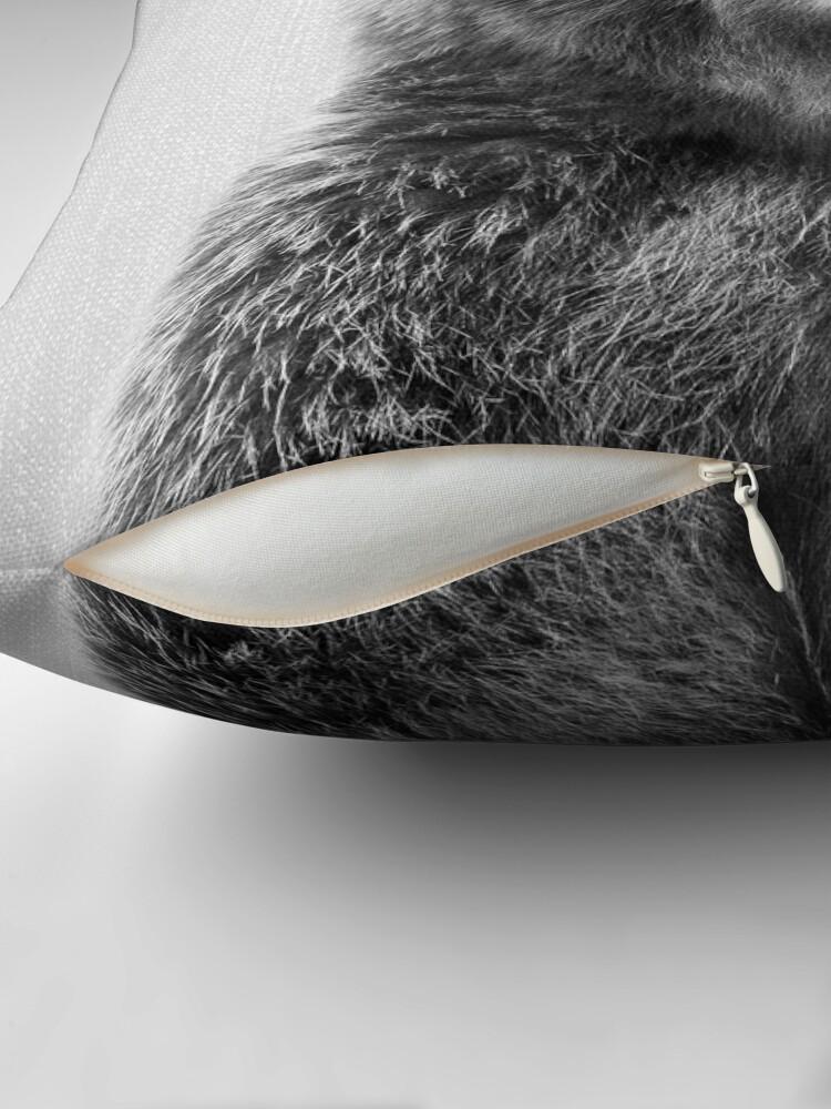 Alternative Ansicht von Grizzlybär - Black & White Dekokissen