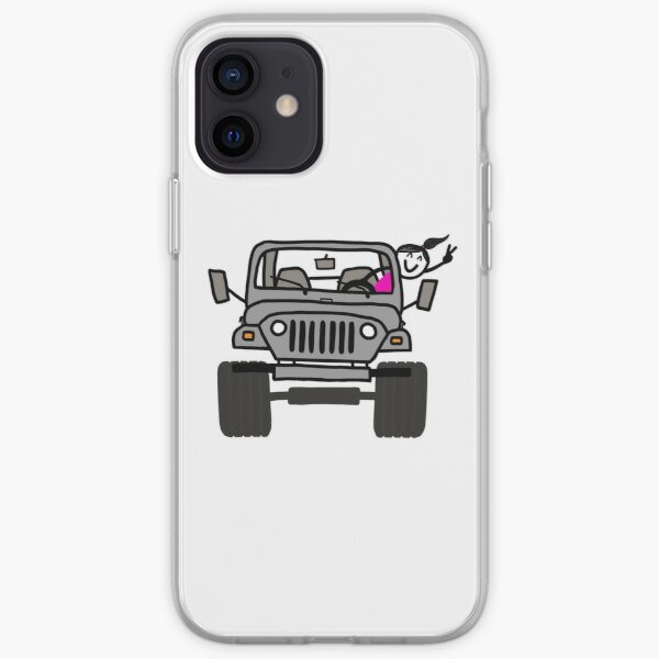 Jeep Wave Gray (Grey) - Girl iPhone Soft Case