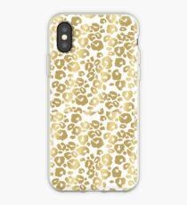 Gold Panter Print iPhone Case