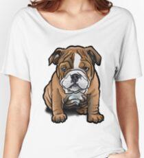 Bulldog Pup Women's Relaxed Fit T-Shirt