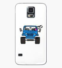 Jeep Wave Blue - Mädchen Hülle & Klebefolie für Samsung Galaxy