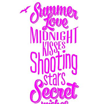 Summer Love Midnight Kisses Great Fashion T-Shirt by andalit