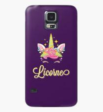 Licorne French Unicorn Case/Skin for Samsung Galaxy