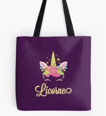 Licorne French Unicorn Tote Bag