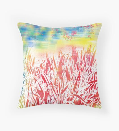 impression of summer Throw Pillow