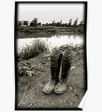river and boots Poster