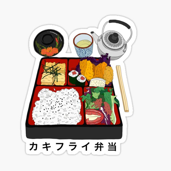 Japanese bento box Sticker