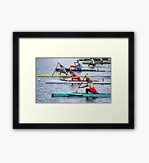 Rowing Race Framed Print