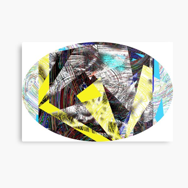 cyber collage Metal Print