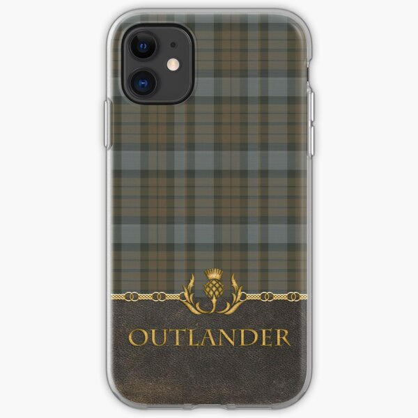 TARTAN LEATHER OUTLANDER iPhone Soft Case