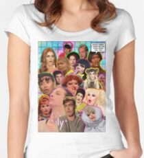 Rpdr Funny queen faces  Women's Fitted Scoop T-Shirt