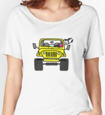 Jeep Wave Yellow - Girl Women's Relaxed Fit T-Shirt