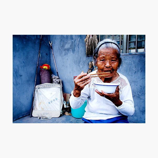 Wrinkled Chopsticks Photographic Print