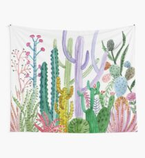 Watercolor Cacti Wall Tapestry