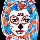 Sugar Skull Watercolor Art | Sugar Skull Stencil Art by coloringiship