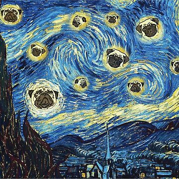 pug starry night by FandomizedRose