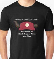 World Domination! The Devil is a Part timer.  Unisex T-Shirt