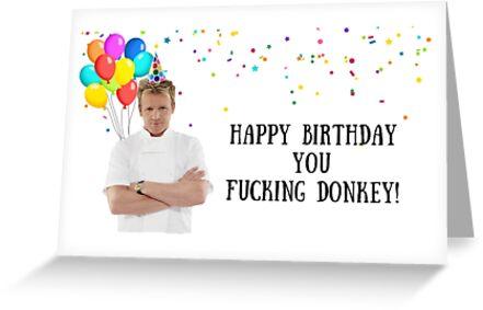 Gordon Ramsay Birthday Card Greeting Cards By Digital Artjunkie