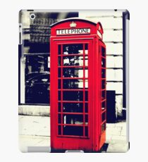 Red British Telephone Booth in London iPad Case/Skin