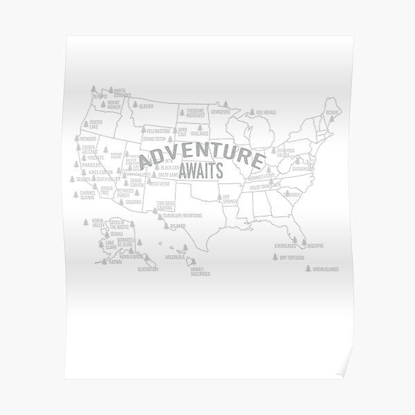 Us National Park Posters Redbubble