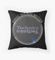 Vinyl Sounds Better Throw Pillow
