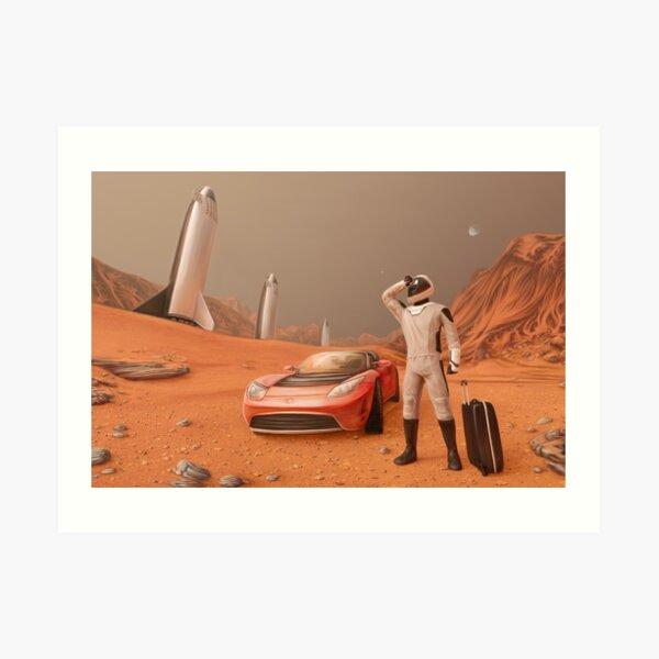 Traveling Starman Art Print