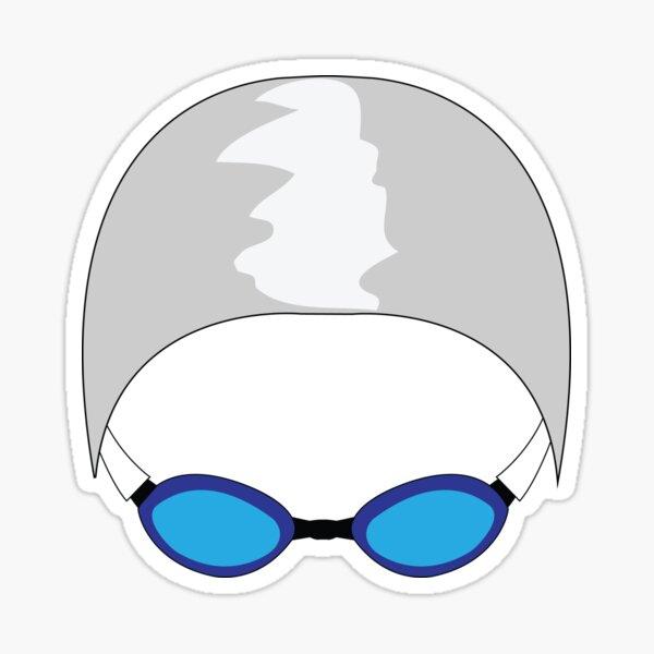 Swim Cap and Goggles Sticker