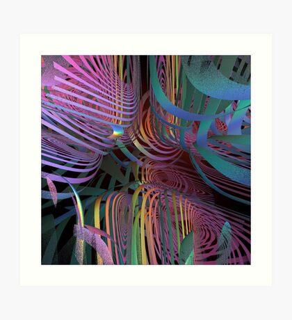 Inside my multicoloured mind Art Print
