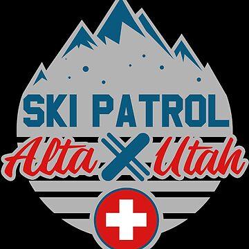 Ski Patrol Alta Utah Skier Skiing Sports Gift Idea by kh123856