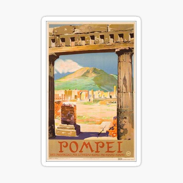 vintage pompeii travel sticker italy Sticker